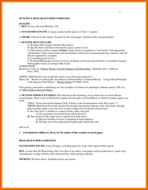 Mla Report Writing Format by Outline Format Mla Moa Format