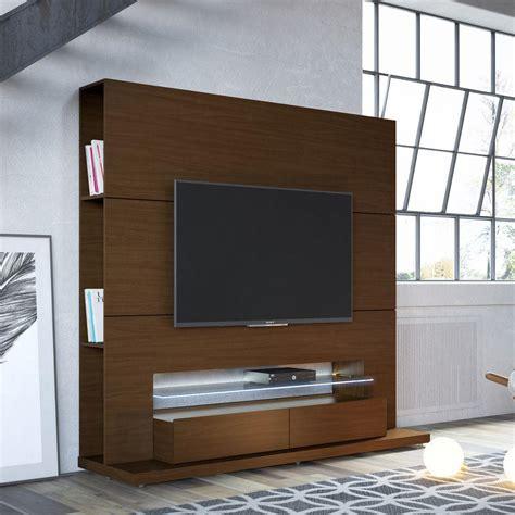 manhattan comfort manhattan comfort riverside nut brown entertainment center