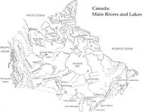 blank map of canada rivers and lakes