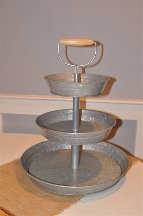 cupcake stand galvanized 3 tier linens and events