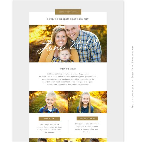 Email Newsletter Template June 2018 Email Marketing Templates 2018