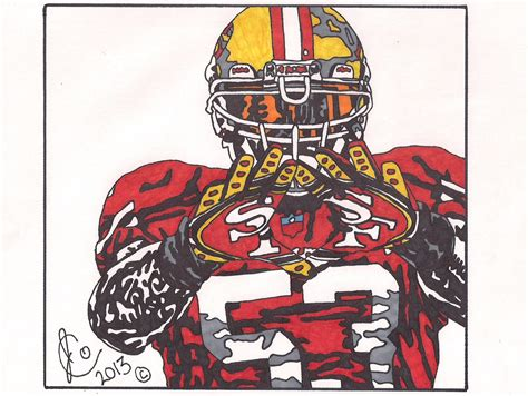 49ers Sketches by Navarro Bowman Ink Illustration Edition By