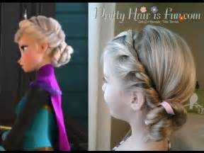 what is a style hairdo elsa s coronation hairstyle disney s frozen youtube