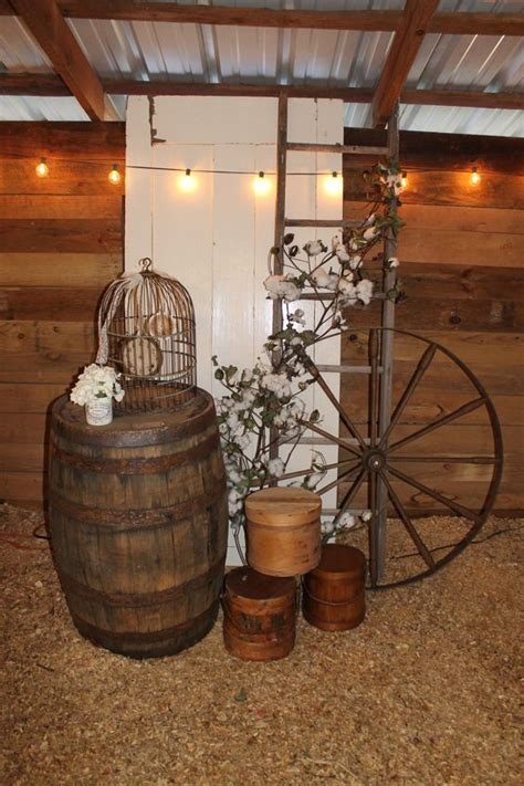 rustic country wedding ideas  wagon wheel details