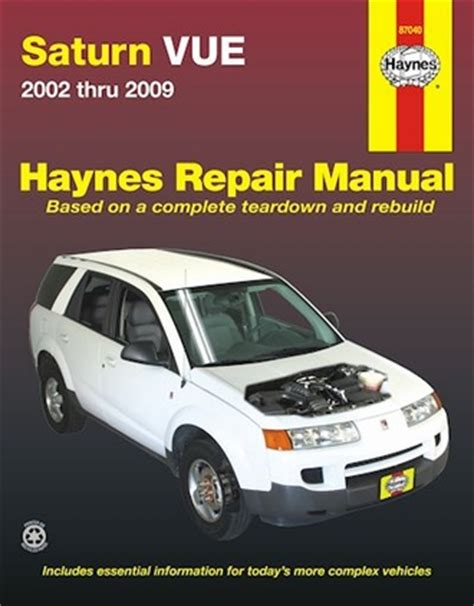 book repair manual 2002 saturn s series on board diagnostic system saturn vue repair service manual 2002 2009 haynes 87040