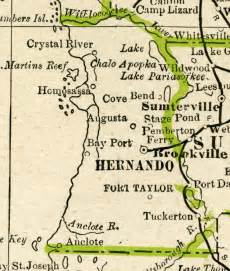 map hernando county florida hernando county 1886