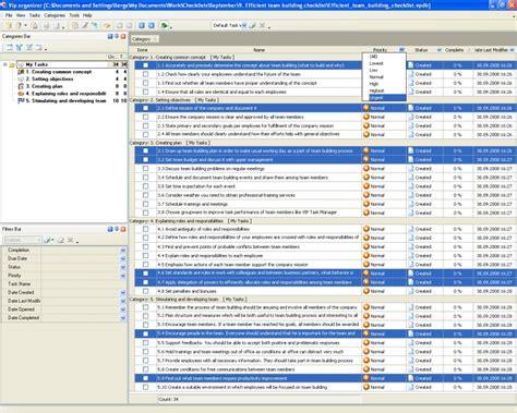 team task list template efficient team building checklist to do list organizer