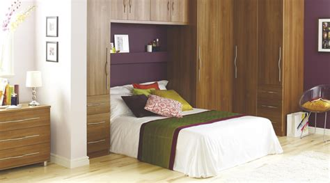 Contemporary Walnut Style Modular Bedroom Furniture System B Q Bedrooms Furniture