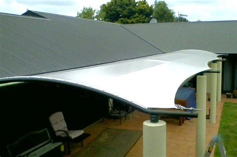 pvc awning tensioned pvc canopies hawkes bay