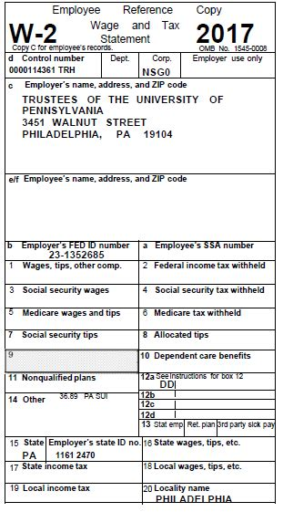 printable w2 form tax forms for 2017 university of pennsylvania almanac