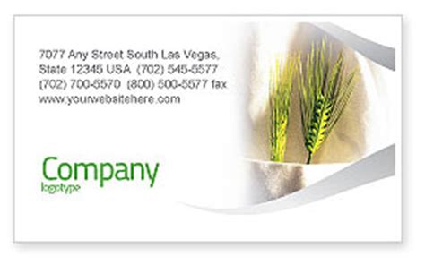 Rice Business Card Template by Work On The Farm Business Card Template Layout