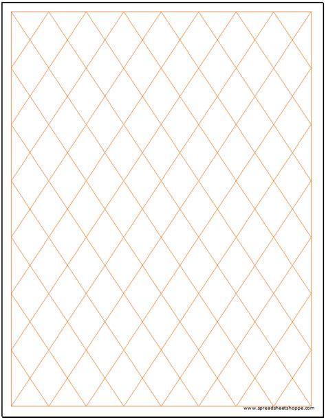 diamond rhombus graph paper template spreadsheetshoppe
