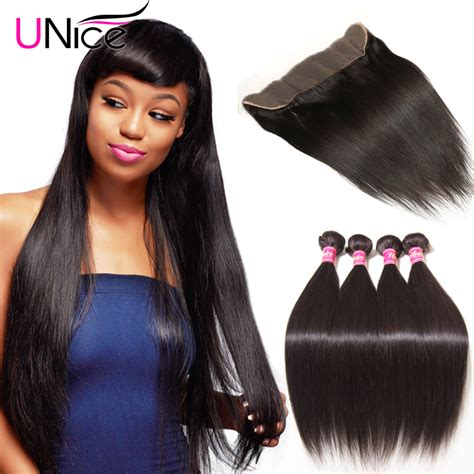 aliexpress unice hair aliexpress com buy unice hair 4 bundles with frontal 7a