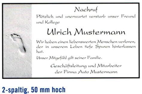 Nachruf Schreiben Muster Nachrufanzeigen Bestattungshaus Tr 246 Sch