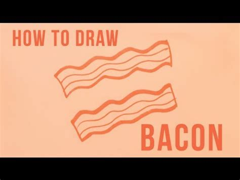 how to make easy doodle how to draw bacon easy things to draw