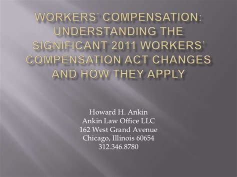 Illinois Workers Compensation Search Changes In The Illinois Workers Compensation Act