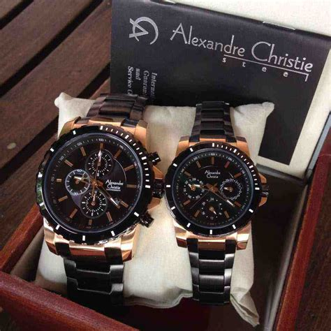 jual alexandre christie ac 6141 black gold