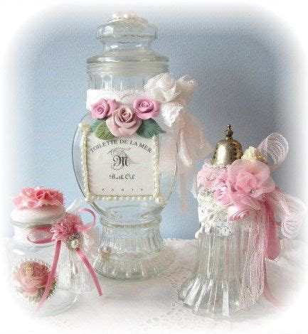 apothecary jar shabby chic altered bottles pinterest