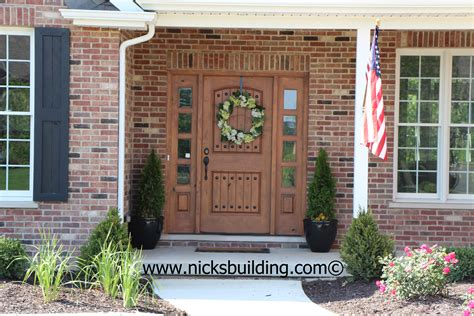 brick house front door the great american entrance red brick house with tan door