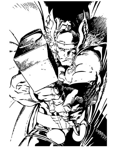 comic book coloring pages marvel comics thor coloring page h m