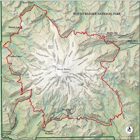 mt rainier national park map best mount rainier national park hike trail map