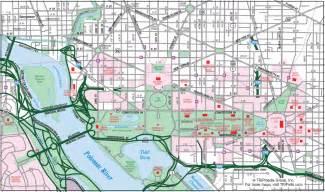 Washington Dc Street Map by Washington D C Downtown Map