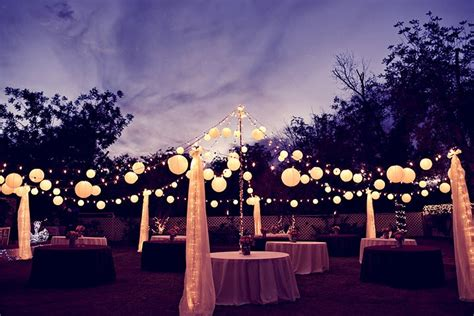 Backyard Wedding Lighting Ideas How To Light A Backyard Wedding Weddingbee