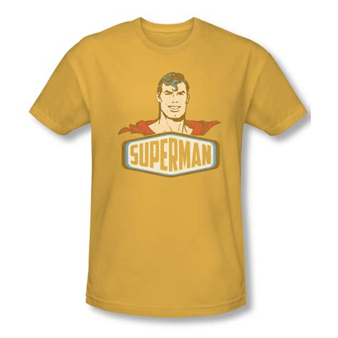 T Shirt Bodyfit Superman Gold superman shirt slim fit sign gold t shirt superman sign