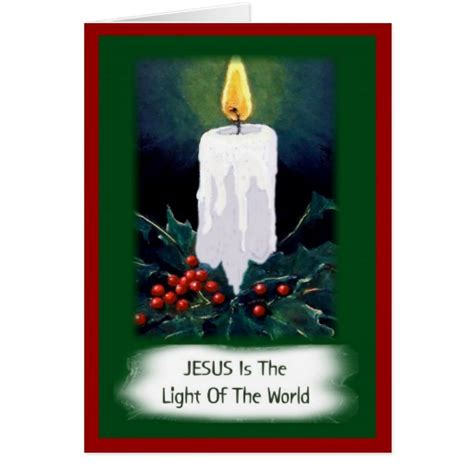 jesus is the light of the world christmas greeting card