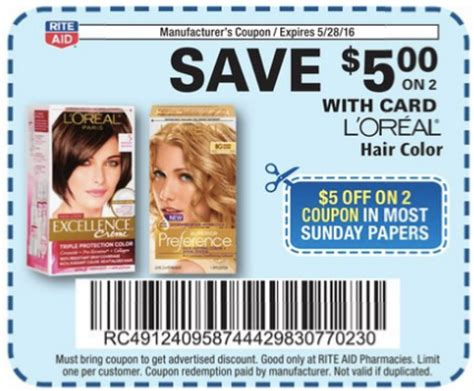 loreal hair color coupons free printable loreal hair color