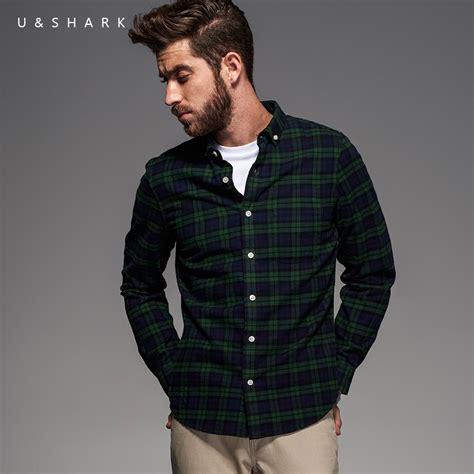 Fashion Shirt Jy773610 Green 2016 style sleeve green plaid flannel cotton shirt blouse u shark fashion