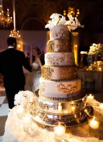 Wedding Cake Gold Metallic Wedding Color Ideas Invitesweddings Com