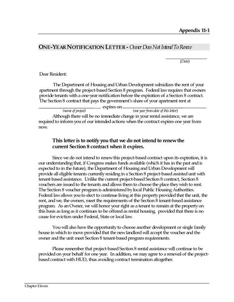 Renewing Contract Letter Sle Letter Of Not Renewing Lease Free Printable Documents