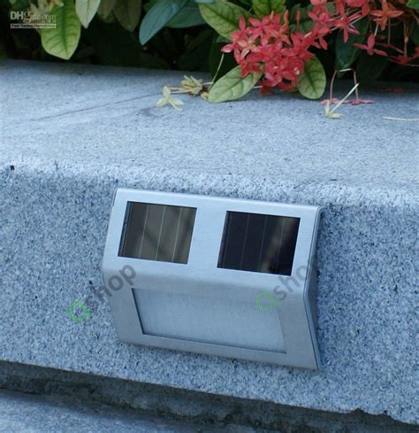 solar stair lights indoor solar step light deck led garden wall staircase new from