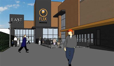 layout of town east mall eight screen theater with restaurant brewery proposed for
