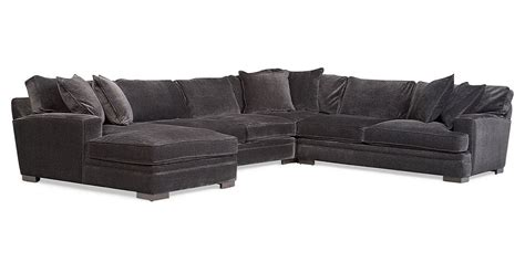 teddy fabric sectional teddy fabric 4 piece chaise sectional sofa from macy s