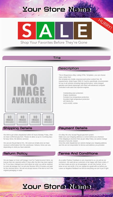 ultimate template ebay template design ebay listing auction template