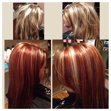 chunky highlights for blonde hair images red hair with chunky blonde highlights hairs picture gallery