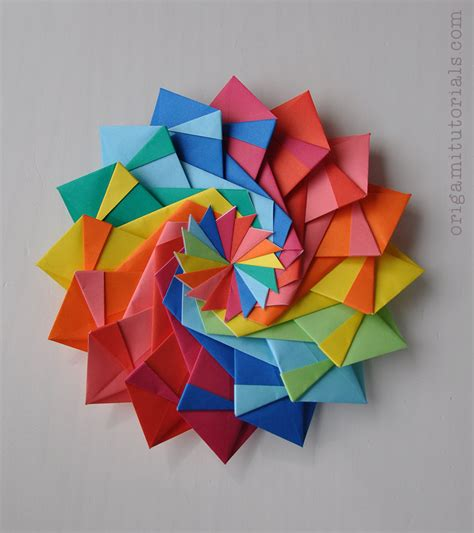 What Is Origami - torch kusudama tutorial origami tutorials