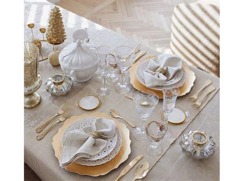 tavola natalizia oro bianco natale decorazioni total white per le feste grazia