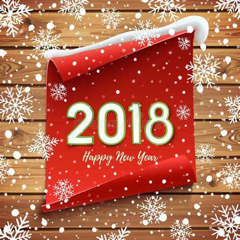 new year greeting etiquette carte de voeux 2018 de bonne 233 e illustration de vecteur