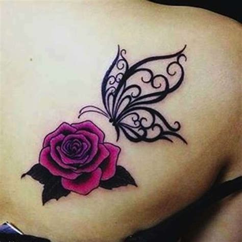 black rose and butterfly tattoo butterfly images designs