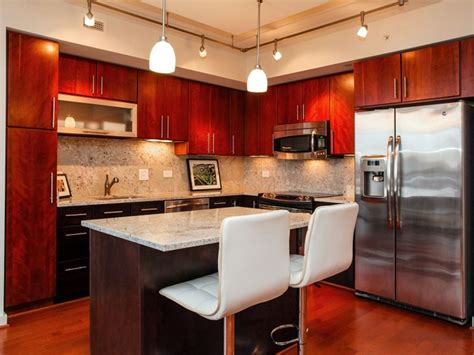 Dark Cherry Cabinets With Wood Floors Wood Floors Cherry Kitchen Cabinets