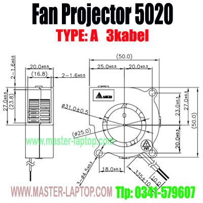 Chasis Fan Kipas Proyektor Benq cooling fan lcd projector type a