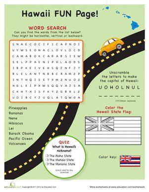 Hawaii Worksheets by Hawaii Facts Worksheet Education