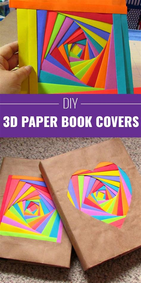 How To Make Book Covers Out Of Paper Bags - 33 brilliant and colorful crafts for to realize