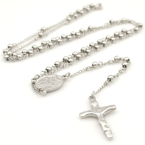 stainless steel rosary for stainless steel catholic religous rosary cross necklaces