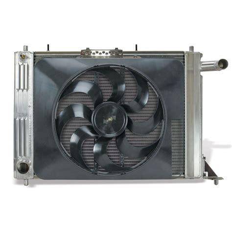 aluminum radiator with electric fan 52184 flex a fit aluminum radiator with electric fan for