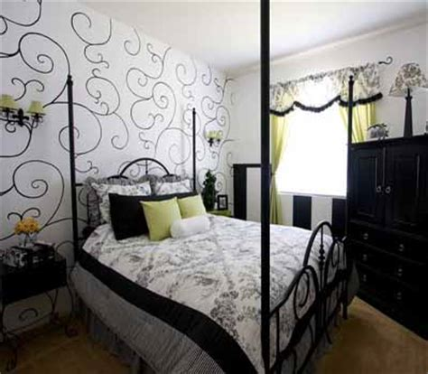 Black And White Wall Decor For Bedroom by Bedroom Wallpaper In Black White And Gray One Wall