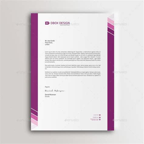 company letterhead designs letter template business